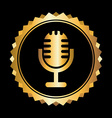 microphone design vector image