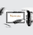 model of a jar of mascara for eyelashes vector image vector image