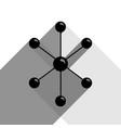 molecule sign black icon vector image vector image