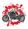 motorbike side view vector image