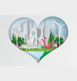 paper art of world environment day vector image vector image