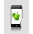 Player and green apple vector image vector image