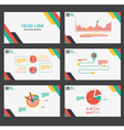 Presentation template vector image vector image