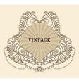 retro floral label vector image vector image