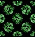saint patricks day neon pattern vector image