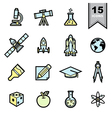 science icons set eps 10 vector image vector image