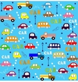seamless pattern trucks buses and cars vector image vector image
