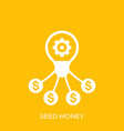 seed money funding icon vector image vector image