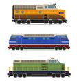 set icons lokomotiv 01 vector image vector image