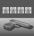 shooting range with gun concept vector image
