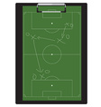 Soccer tactic vector image vector image