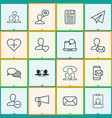 social icons set with identity card team best vector image vector image