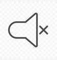 sound off or mute icon isolated on transparent vector image
