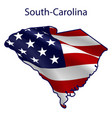 south carolina full american flag vector image