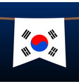 south korea national flags hangs on rope vector image vector image