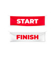 start and finish realistic banners flags vector image