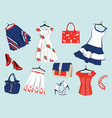 summer womens clothes vector image