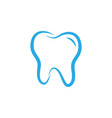 tooth dental icon design template vector image vector image