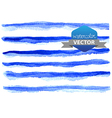 Watercolor beautiful blue lines vector image