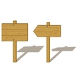 wood signs vector image vector image
