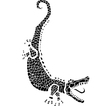 Woodcut Alligator vector image