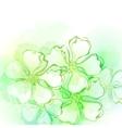 Decorative watercolor spring flower vector image