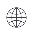 globe line icon sign on vector image
