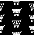Cart icon seamless pattern vector image