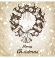 Christmas and New year hand drawn vector image