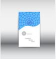 business brochure flyer design leaflets 3 fold vector image