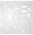 Tridimensional circuit board vector image
