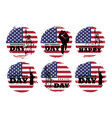 4th july independence day usa set vector image vector image