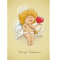 angel cupid for valentines vector image