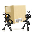 Ants Delivery vector image vector image