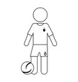 athlete icon image vector image vector image