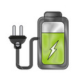 battery with plug vector image vector image