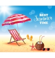Best Summer Time Poster vector image vector image