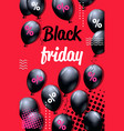 black friday special offer sale poster with air vector image