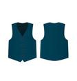 blue suit vest vector image
