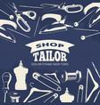 blue tailor shop fashion banner or poster