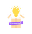 bright bulb like think outside box vector image