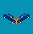 car accident concept business broken road vector image