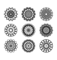 Circle vignette lace decorations set vector image vector image