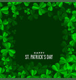 clover leaves background for saint patricks day vector image vector image