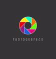 colored aperture camera lens photo studio vector image vector image