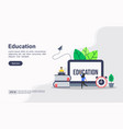 concept education modern conceptual for banner vector image