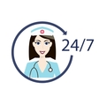 Customer medical service icon Nurse support vector image