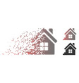 decomposed pixel halftone house porch icon vector image vector image