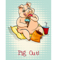 English idiom pig out vector image vector image