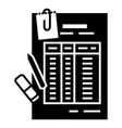 finance table paper icon simple style vector image